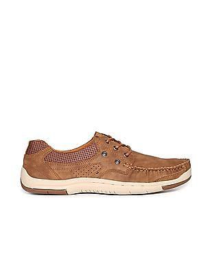 Arrow Contrast Sole Panelled Boat Shoes
