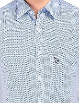 U.S. Polo Assn. Star Printed Regular Fit Shirt