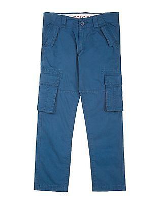 U.S. Polo Assn. Kids Boys Twill Cargo Trousers
