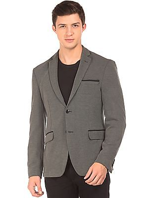 Flying Machine Single Breasted Heathered Blazer