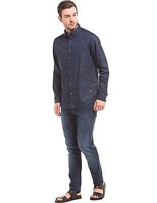 True Blue Paisley Print Chambray Shirt