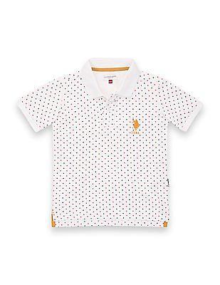 U.S. Polo Assn. Kids Boys Short Sleeve Star Print Polo Shirt