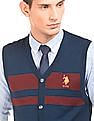 U.S. Polo Assn. Slim Fit Striped Cardigan Vest