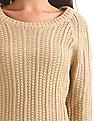 Elle Long Sleeve Patterned Sweater