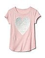 GAP Girls Pink Embellished Graphic Short Sleeve Tee