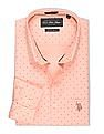 USPA Tailored Slim Fit Printed Shirt