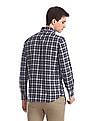 Arrow Sports Blue Concealed Button Down Collar Check Shirt