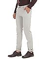 Arrow Sports Slim Fit Patterned Trousers