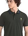 U.S. Polo Assn. Green Grindle Pique Polo Shirt