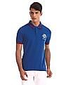U.S. Polo Assn. Blue Cotton Pique Polo Shirt