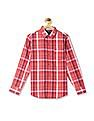 Nautica Kids Boys Plaid Long Sleeve Woven Shirt