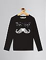 GAP Black Boys Flippy Sequin Slub T-Shirt