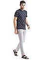 True Blue Ikat Print Slim Fit T-Shirt