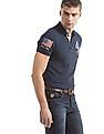 U.S. Polo Assn. Denim Co. Numeric Print Muscle Fit Polo Shirt