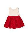 The Children's Place Toddler Girl White Sleeveless Lace And Rosette Flare Dress