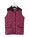 U.S. Polo Assn. Kids Girls Corduroy Trim Quilted Jacket