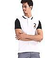 U.S. Polo Assn. White Applique Back Pique Polo Shirt