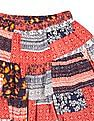 Cherokee Girls Printed Tiered Flared Skirt