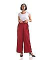 U.S. Polo Assn. Women Belted Wide Leg Pants