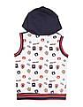 Donuts Boys Hooded Sleeveless Jacket