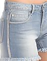Cherokee Frayed Hem Denim Shorts