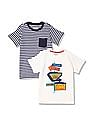 Cherokee Boys Cotton T-Shirt - Pack Of 2