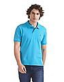 Ruggers Blue Solid Pique Polo Shirt