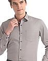 Arrow Beige French Placket Printed Shirt