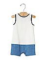 GAP Baby White Anchor Tank Layer Shortie One Piece
