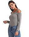 Aeropostale Cold Shoulder Heathered T-Shirt