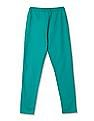 U.S. Polo Assn. Kids Girls Standard Fit Elasticized Waist Pants