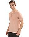Cherokee Washed Regular Fit Henley T-Shirt