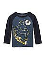 The Children's Place Baby And Toddler Boy Long Raglan Sleeve Colorblock Graphic Top