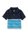 The Children's Place Toddler Boy Blue English Stripe Polo