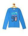 U.S. Polo Assn. Kids Girls Crew Neck Printed T-Shirt