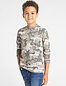 GAP Boys Camo Print Crewneck T-Shirt