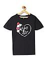 U.S. Polo Assn. Kids Girls Graphic Front Knit Top