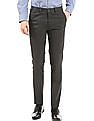 Arrow Newyork Flat Front Super Slim Fit Trousers