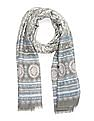 SUGR Fringed Printed Stole