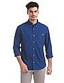 Aeropostale Solid Button Down Shirt