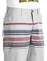 Aeropostale Grey Regular Fit Striped Shorts