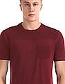 Cherokee Red Patch Pocket Solid T-Shirt