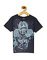 The Children's Place Blue Boys Short Sleeve Football Player Graphic T-Shirt