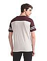 Aeropostale Grey Brand Applique Panelled T-Shirt