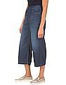 Flying Machine Women Washed Flared Culottes