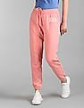 GAP Pink Mid Rise Applique Branding Track Pants