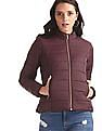 Cherokee Purple High Neck Quilted Jacket