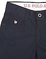 U.S. Polo Assn. Kids Boys Solid Slim Fit Trousers