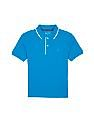 Nautica Kids Boys Solid Pique Cotton Polo Shirt