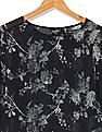 Flying Machine Women Bell Sleeve Floral Print Peplum Top